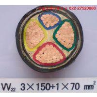 供应绿宝牌YJV22国标紫铜线导体塑料绝缘PVC护套铠装低压电力传输电缆YJV22 4*50