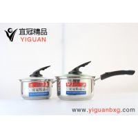 邯郸不锈钢奶锅批发 优质锅具制造商 宜冠不锈钢