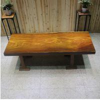 家有名木供应非洲奥坎实木大板桌餐桌画案会议桌办公桌原木简约家具台面