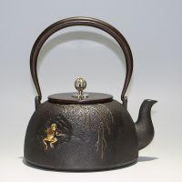 日本铁壶厂家 日本鎏金铸铁茶壶批发 日本进口铁壶代理商龙秀堂