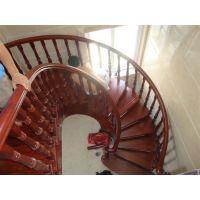 安徽步升楼梯厂家,别墅弧形成品楼梯弧形实木楼梯