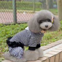 2014新款 宠物衣服 细条纹打底衫 狗狗服装 宠物春夏装 可混批