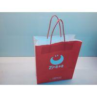 供应百味林高档白牛皮印刷环保纸袋 定制手提纸袋 机制袋
