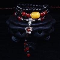 正品天然水晶手链红玛瑙毛衣链情侣款本命年开运手串多层饰品
