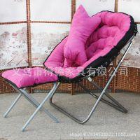 厂家批发沙发椅布艺休闲椅折叠椅靠背椅月亮椅懒人沙发三件套