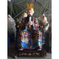 雕塑三官大帝神像 天官、水官、地官大帝玻璃钢神像定做厂家