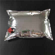 厂家直销2L 3L 5L袋装红酒包装 铝箔蝶形阀红酒白酒果酒盒中袋 储存袋