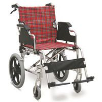 #JL907LABJ �C 31 lbs. Lightweight Transport Wheelchair With Drop Back Handles With Brake, 16
