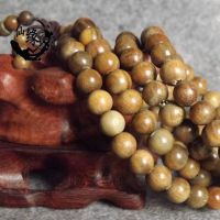 批发正宗天然美洲绿檀手串檀香木复古男女佛珠手链108颗饰品