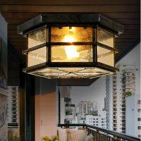美式乡村复古吸顶灯 欧式仿古工业风吸顶灯 客厅餐厅卧室灯具批发