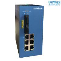 inmax金恒威i608A 2光6电 增强网管型工业以太网交换机