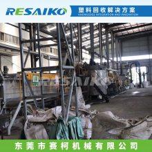HDPE/LDPE/PP废旧塑料薄膜清洗破碎回收生产线、赛柯机械