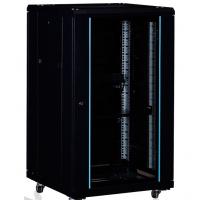 图泰网络机柜1000*600*600豪华型黑色18U交换机机柜