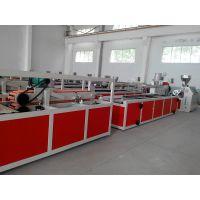 德佳源SJSZ65/132锥双挤出机PVC木塑异型材(线条)生产设备(100mm宽)