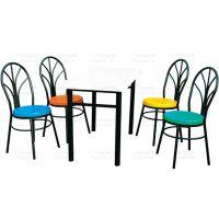 广州双邻家具厂家长期供应优质玻璃钢分体餐桌椅,4人位玻璃钢分体餐桌椅,款式跟颜色可定制,欢迎来图订购