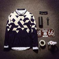 2015春季新款男式针织衫撞色长袖韩版男士毛衣 韩版男式毛衫