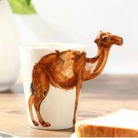批发定制各种创意个性纯手工手绘陶瓷马克杯 3D立体动物水杯