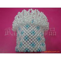 手工串珠圆筒纸巾盒8#珠中珠纸巾盒