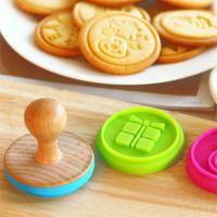 木柄硅胶饼干印章 烘焙用食品级硅胶印章 蛋糕模木印章