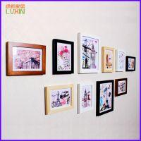 供应10框照片墙 实木照片墙 创意家居 墙面悬挂装饰品