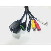 摄像机网口尾线 多功能网络线 报警复位线  可来样订做,厂家直销