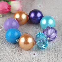 彩色糖果珠儿童串珠弹力手链 bubblegum bracelet 速卖通饰品货源