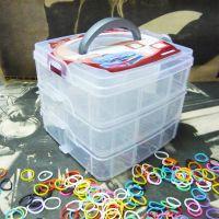 小号三层可拆格塑料收纳盒 透明收纳盒 首饰盒 工具盒