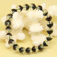 诚信水晶 天然绿幽灵手链/聚宝盆手链9毫米女款 一图一物