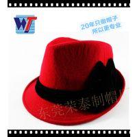 东莞20年厂家定做羊毛毡帽礼帽女士 高档高贵时尚英伦帽欧美出口