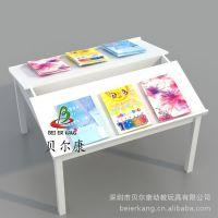 BEK5-81F白色阅览桌 图书馆阅读木桌 儿童书桌