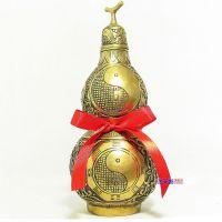精品大号开光纯铜葫芦摆件 家居风水摆件 镇宅之宝八卦葫芦工艺品