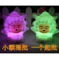 懒羊羊七彩小夜灯 LED懒洋洋夜灯 搪胶发光玩具 电子礼品厂家直销