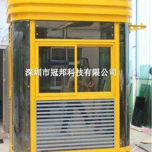 可放空调形象岗亭,碧桂园、万达站台岗亭 高档钢结构亭使用操作 停车场槽钢成品发货