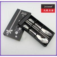 厂家直销 促销礼品 快乐时光三件套 彩盒 勺叉筷套装 鱼尾勺叉筷G
