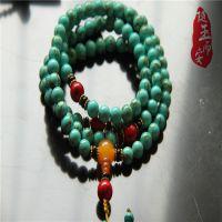 随玉而安厂价批发 多圈绿松石配佛珠藏银手链 支持混批 一件代发