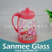 工厂直销热转印玻璃冷水壶 居家玻璃套壶 节日礼品专用冷水壶