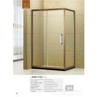 厂家专业生产高贵典雅不锈钢推拉式方形淋浴房