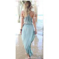 亚马逊 ebay 爆款 速卖通  海南风光波西米亚系列雪纺拖地长裙