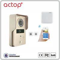 ACTOP卓豪监控无线楼宇WIFI601可视对讲门铃智能电子猫眼手机APP远程开锁移动侦测监控拍照