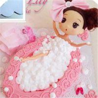 迷糊女孩芭比娃娃公主生日蛋糕模具 迷糊娃娃公仔 蛋糕装饰娃娃