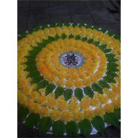 2米花圈A-13 雄县米家务镇正乾花圈厂,批发各尺寸布花圈,可来样订做。