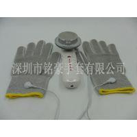 深圳厂家直销13针针织导电手套 银纤维电极手套 电疗仪按摩手套 美容魔术手套