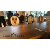 供应苏州咖啡厅美式乡村椅子(实木椅子)定制厂家/韩尔家具