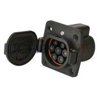 供应V2C-DSI-GEL-EV16/32S国标交流充电插座