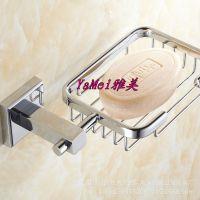 全铜皂网皂架皂碟卫浴香皂碟卫浴香皂盒挂件长方底座肥皂网皂篮