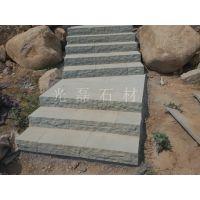 供应天然绿砂岩自然面台阶石