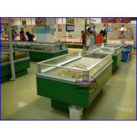 海鲜水产超市冷冻展示柜 速冻水饺汤圆冷藏柜 台州定做单岛柜价格