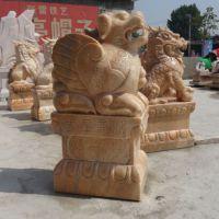 天和雕塑 天然晚霞红貔貅雕塑