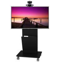 晶固RED-E6-60单屏32-70寸液晶电视带设备柜落地移动推车支架挂架