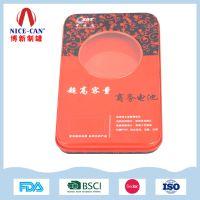 铁盒生产厂家供应创意电池收纳铁盒,移动电源铁盒定做